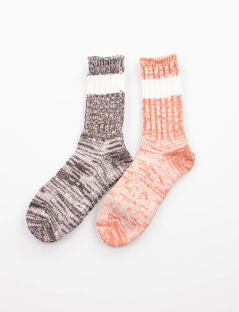 2–Pack Socks – Melange Stripe