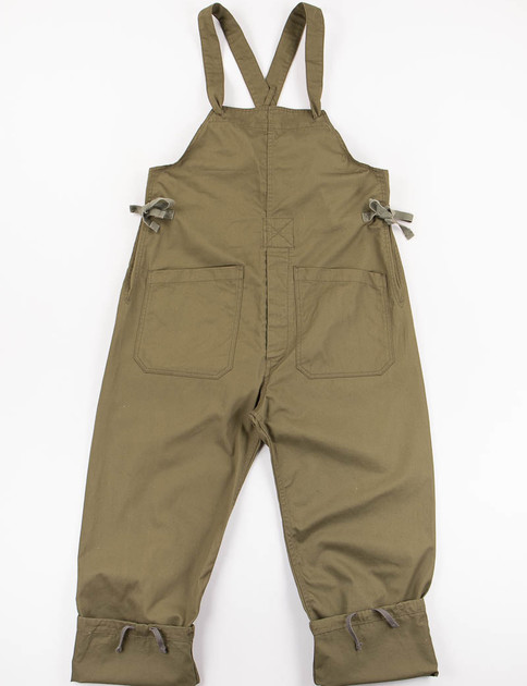 Olive 7oz Cotton Twill Overalls