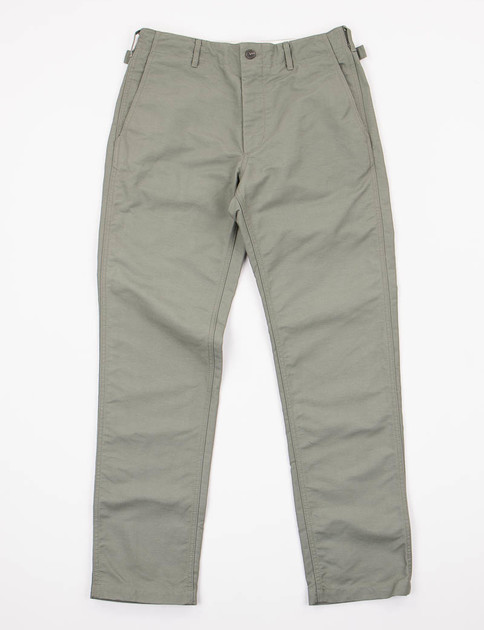 Olive Double Cloth Ground Pant