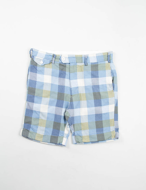 Light Blue Jacquard Pattern Block Cambridge Short