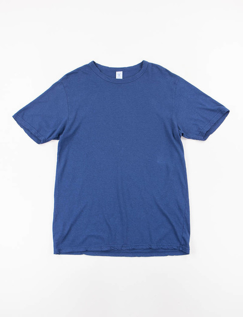 Navy Hemp/Cotton Tee
