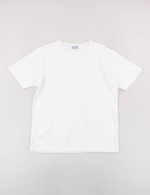 White Heavy Oz Pocket Tee