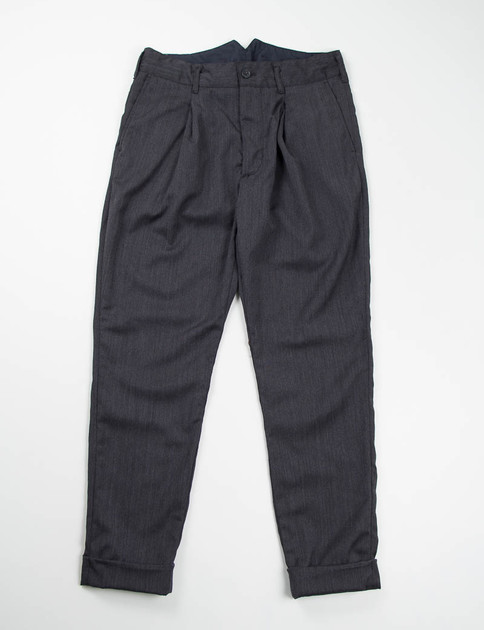 Charcoal Wool Gabardine Willy Post Pant