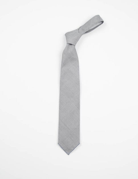 Grey PC Glen Plaid Neck Tie