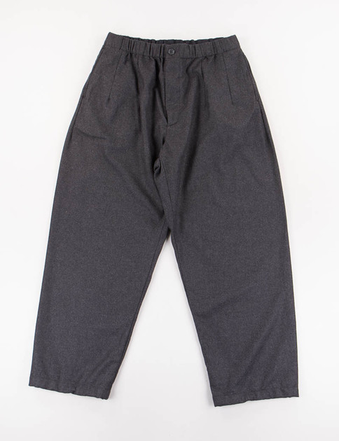 Dark Grey Worsted Heavy Wool New Balloon Pant