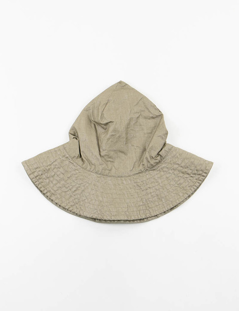 Olive Coated Linen Snufkin Hat