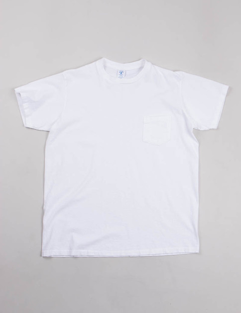 White Pigment Dye Pocket Tee