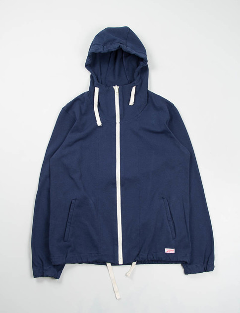 Navy Cotton Jersey Kaolin Parka