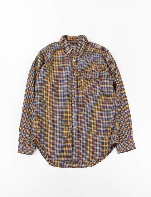 Black/Yellow Cotton/Wool Plaid BD Shirt