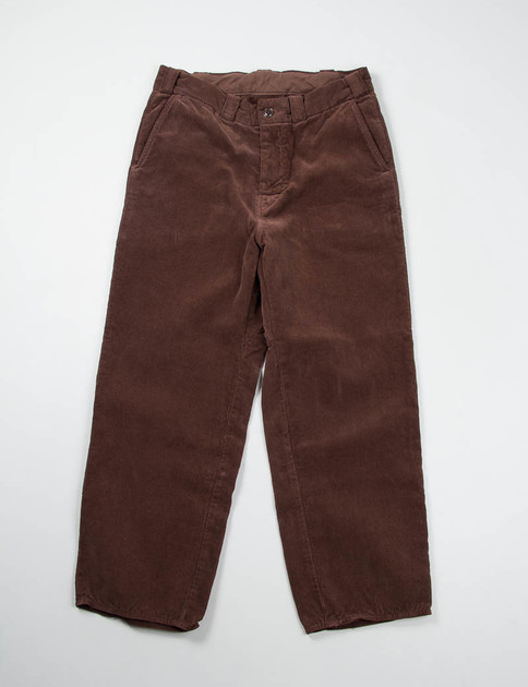 Brown Cord Wide Pant