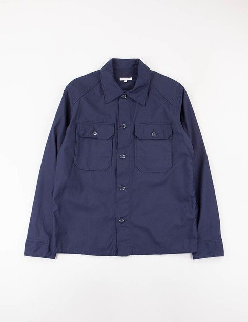 Dark Navy Reversed Sateen Field Shirt