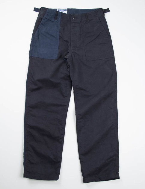 Black/Navy Combo Bedford Cord Fatigue Pant