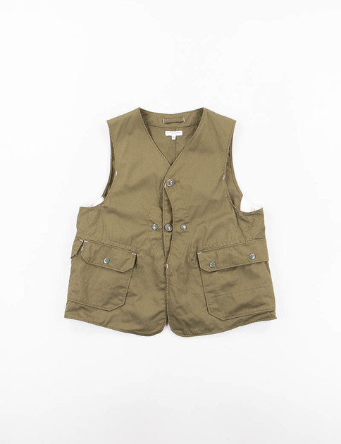 Olive 7oz Cotton Twill Upland Vest