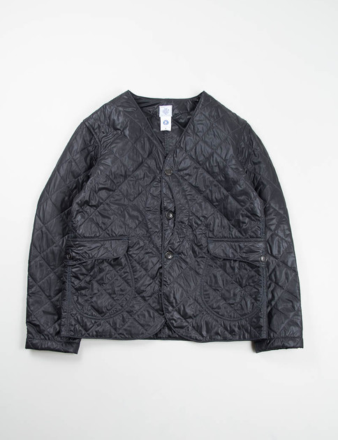 Black Nylon Quilt Royal Traveler Shirt