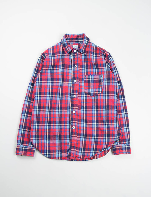Red Multi Cotton Flannel Plaid The Post 2 Shirt