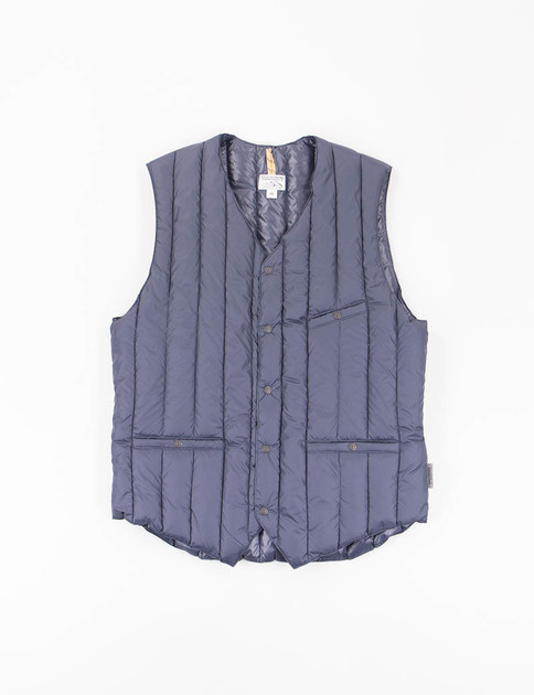 Navy Six Month Down V–Neck Vest
