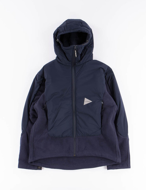 Navy Twill Fleece Jacket
