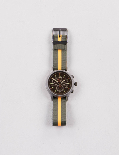 Silver/Black w/ Green/Orange Strap Scout Chrono Watch