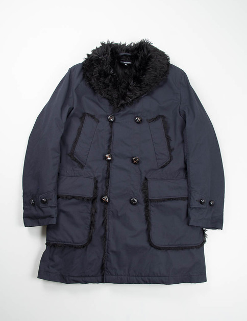 Dark Navy Nyco Ripstop Mackinaw Coat