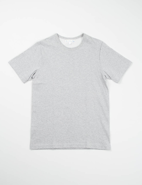 Grey Melange 215 Organic Cotton Army Shirt