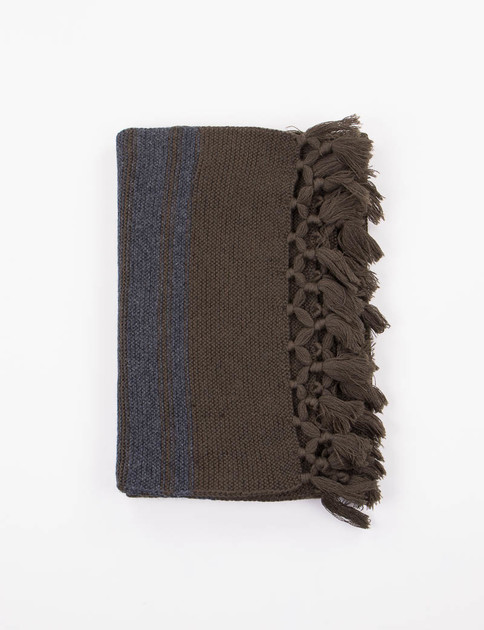 Dark/Light Army Striped Scarf