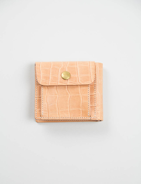 Natural Embossed Billfold Wallet