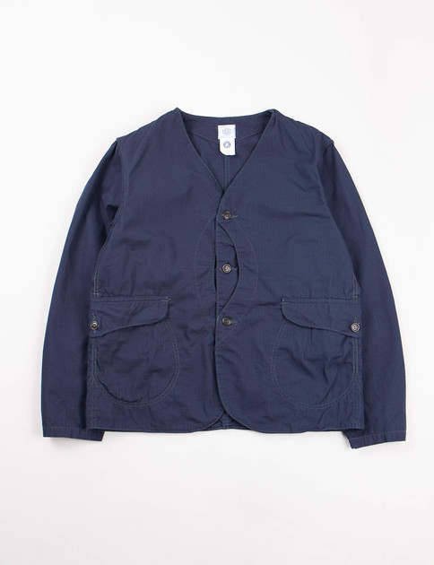 Navy Cotton Ripstop Royal Traveler Shirt