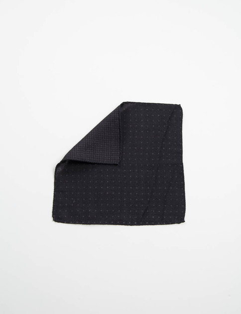 Black Polka Dot Double Faced Pocket Square