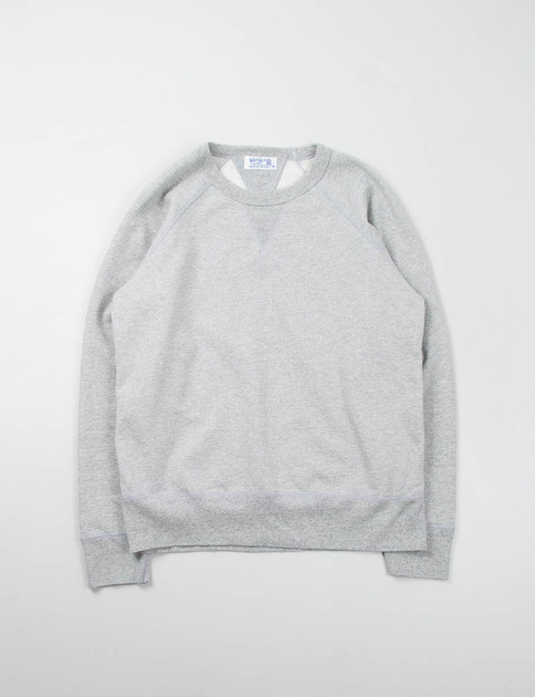 Heather Grey Double V Raglan Sweat