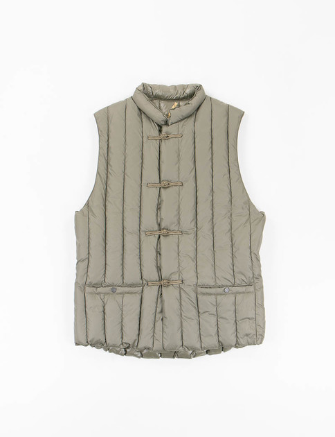 Olive Six Month Down China Vest