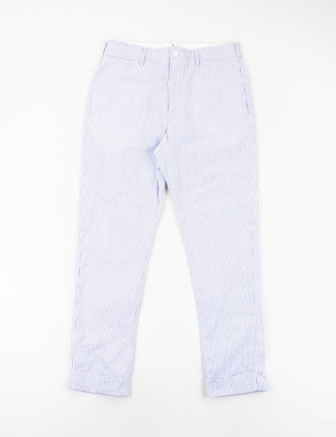 Blue/White Seersucker Stripe Cinch Pant