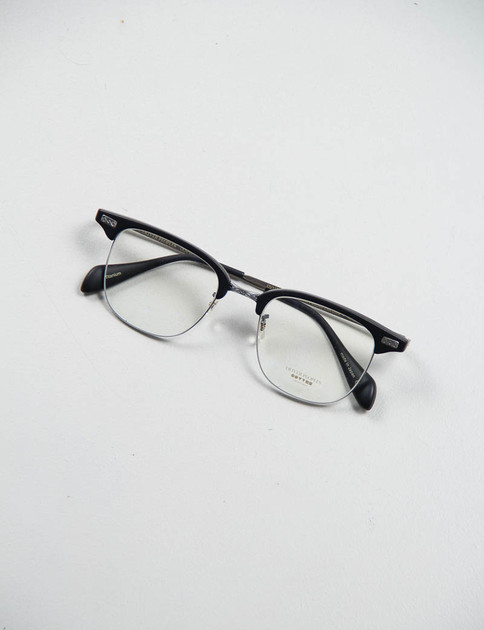 Matte Black/Pewter Executive I Optical Frame