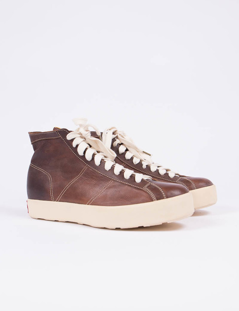 VISVIM Dark Brown Foley Hi–Folk