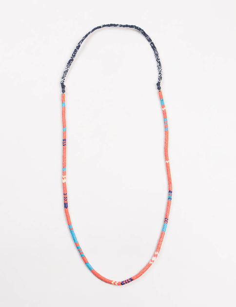 Mikia X United Arrows Orange Snake Bead Necklace