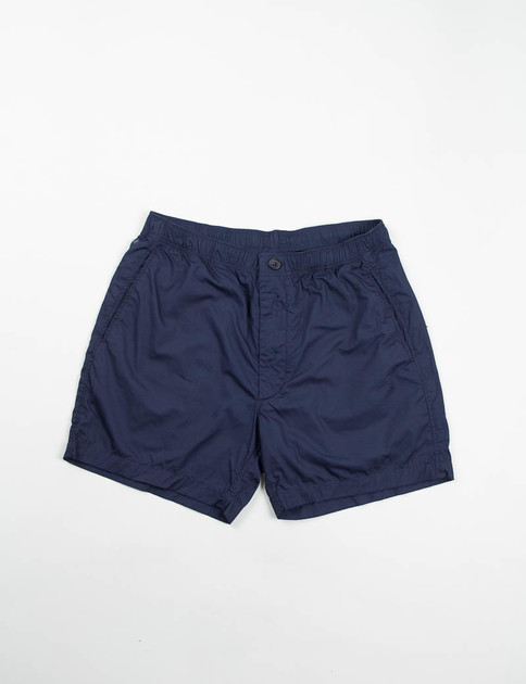 Dark Navy Pima Poplin Long Beach Short