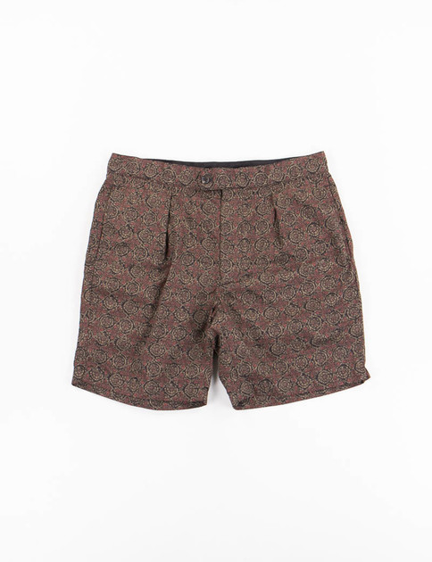 Olive Floral Java Cloth Sunset Short