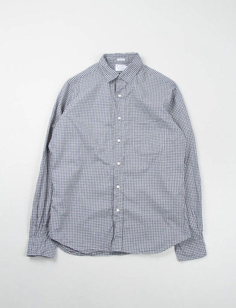 Grey Gingham Point Collar Shirt