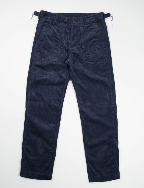 Navy 8W Corduroy Fatigue Pant