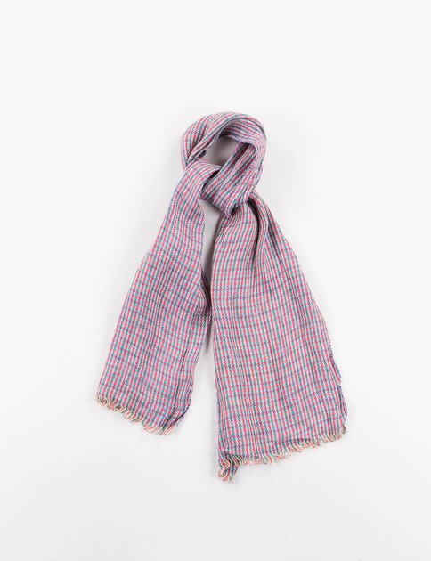 Red/Green Check Linen Neck Scarf
