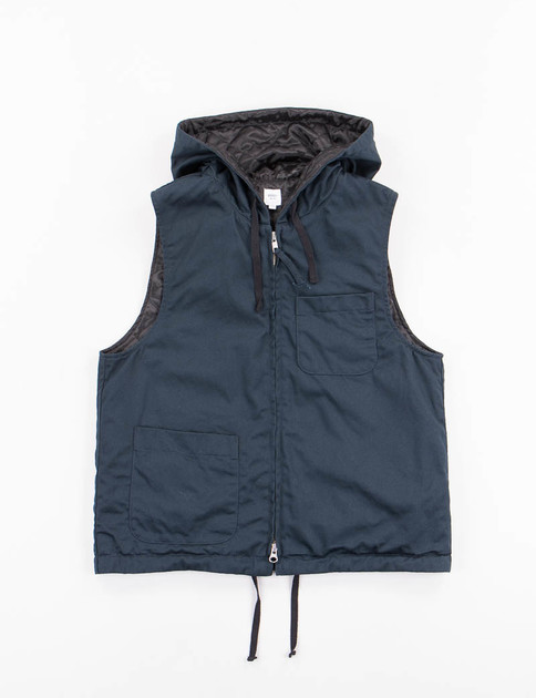 Dark Navy Chino Twill Lined Shirt Vest