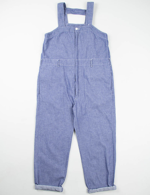 Indigo Cotton Dungaree Cloth Waders