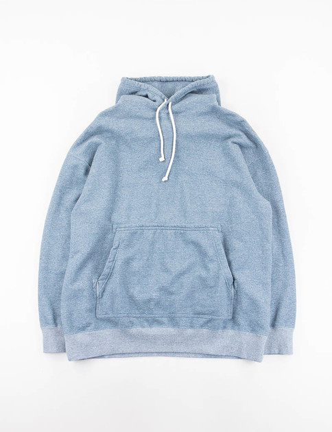 Blue Heathered Jersey Oversize Sweat Parka