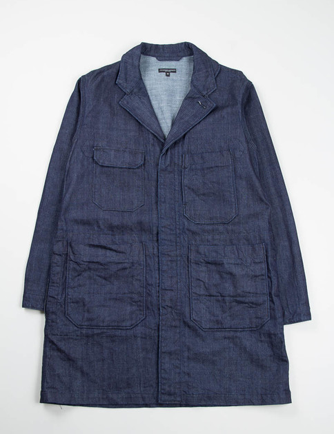 Indigo 11oz Broken Denim Shop Coat