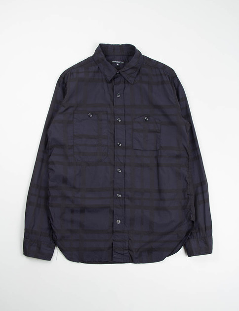 Navy Big Plaid Work Shirt SPECIAL