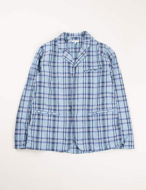 Light Blue/Navy NyCo Plaid Knockabout Jacket