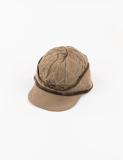 Khaki After Wiggle Twill Quilted Donkey Cap