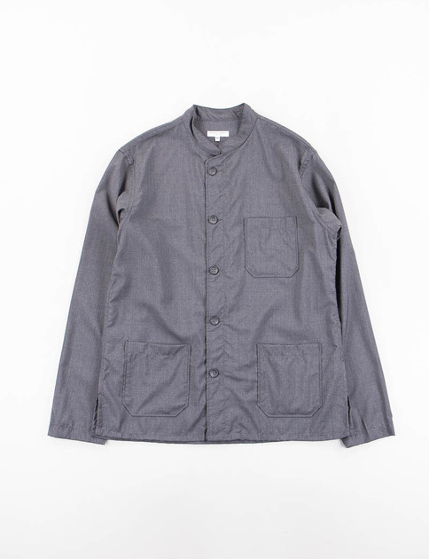 Grey Tropical Wool Dayton Shirt
