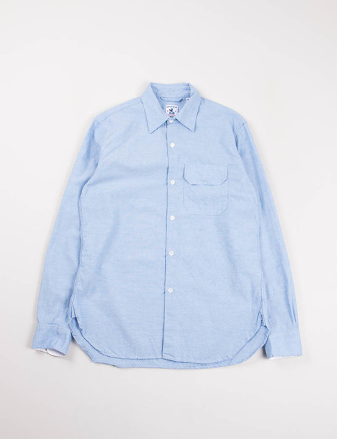 Blue Cotton Pique Ted Shirt