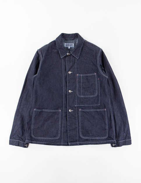 Indigo Heavy Denim Utility Jacket