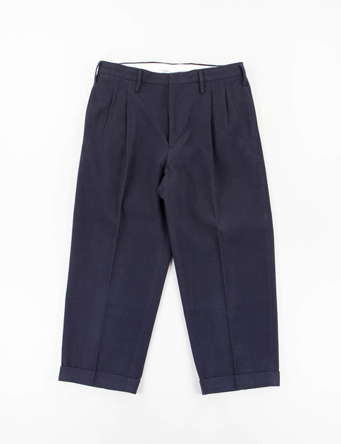 Navy W/L High Water Pleated Slacks